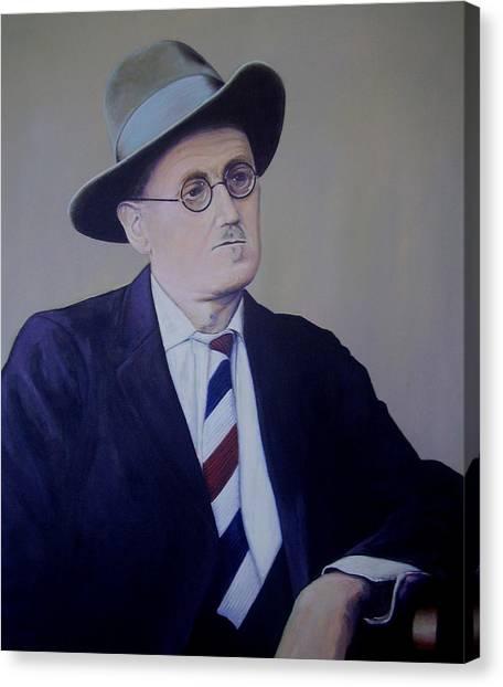 James Joyce Canvas Print by Eamon Doyle