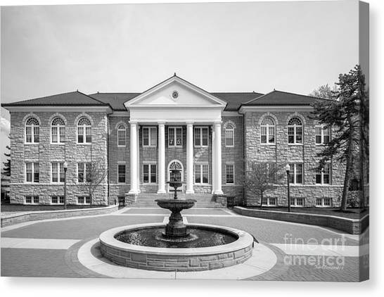 James Madison University Jmu Canvas Print - James Madison University Carrier Library by University Icons