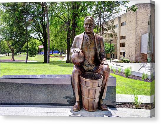 University Of Kansas Canvas Print - James Naismith - The Father Of Basketball by Jean Hutchison