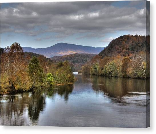 James River 1 Canvas Print by Michael Edwards