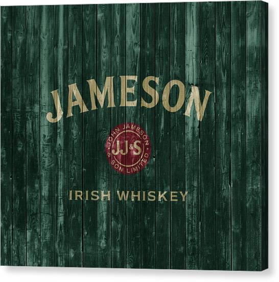 Drunk Canvas Print - Jameson Irish Whiskey Barn Door by Dan Sproul