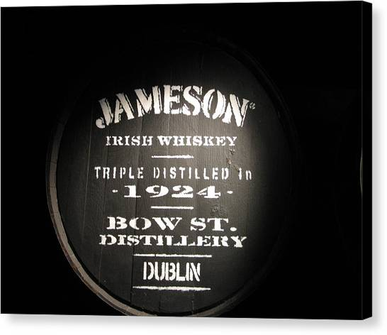 Whiskey Canvas Print - Jameson by Kelly Mezzapelle