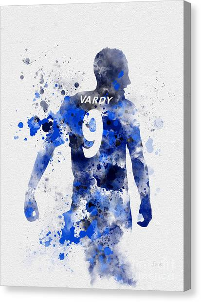 Premier League Canvas Print - Jamie Vardy by My Inspiration