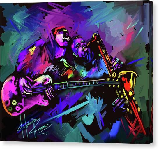 Jammin' The Funk Canvas Print