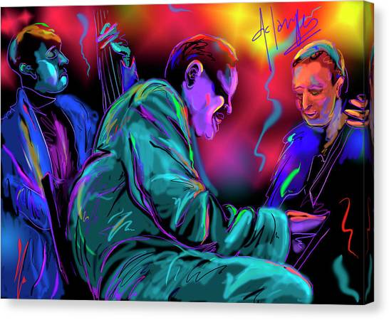 Jamming With Oscar Canvas Print