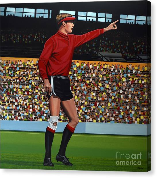 World Cup Canvas Print - Jan Van Beveren by Paul Meijering