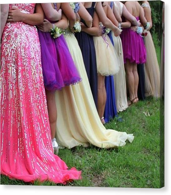 Peacocks Canvas Print - Prom Dresses by Carey Peacock