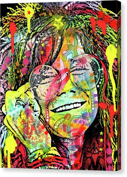 Big Brother Canvas Print - Janis by Dean Russo Art