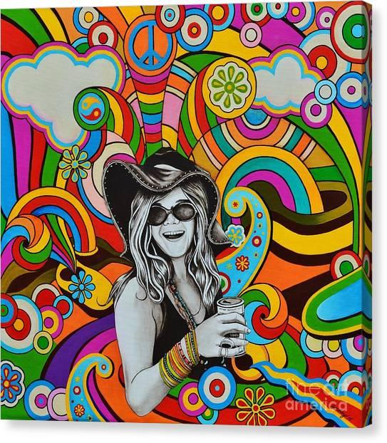 Janis Joplin Canvas Print - Janis In Wonderland by Joseph Sonday