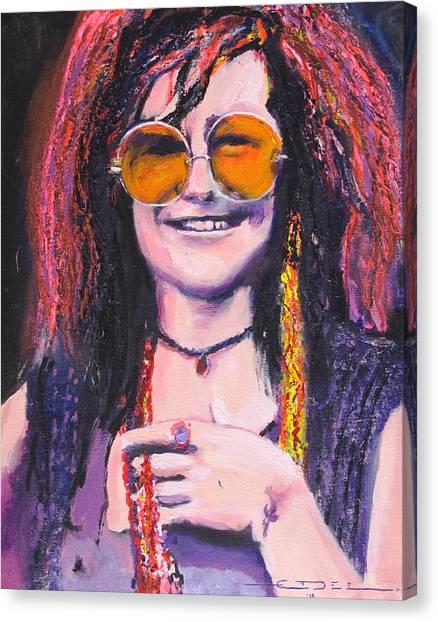 Janis Joplin Canvas Print - Janis Joplin 2 by Eric Dee