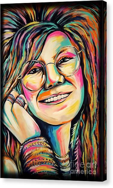 Janis Joplin Canvas Print - Janis Joplin by Amy Belonio