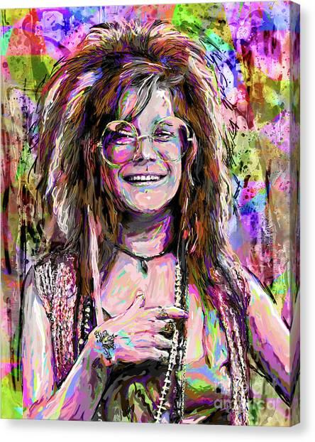 Janis Joplin Canvas Print - Janis Joplin Art by Ryan Rock Artist