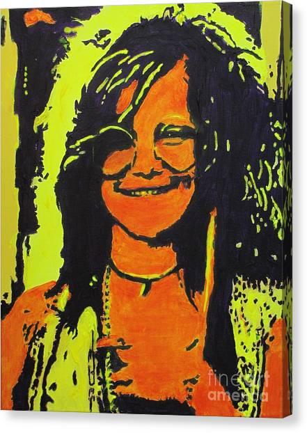 Janis Joplin Canvas Print - Janis Joplin by Eric Dee