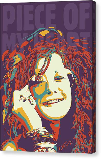 Janis Joplin Canvas Print - Janis Joplin by Greatom London