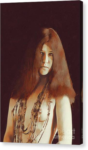 Janis Joplin Canvas Print - Janis Joplin, Music Legend by Mary Bassett
