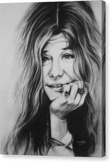 Janis Joplin Canvas Print - Janis Joplin by Steve Hunter
