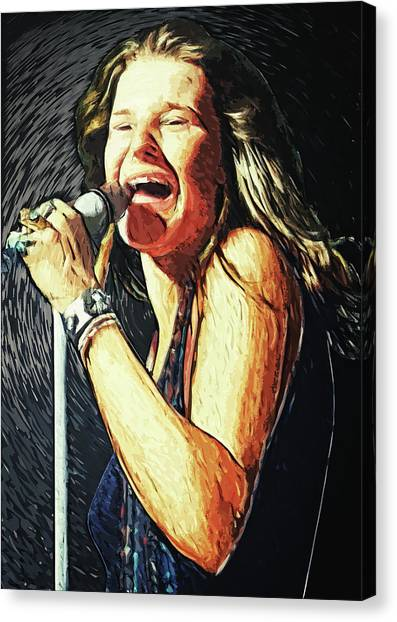 Janis Joplin Canvas Print - Janis Joplin by Zapista