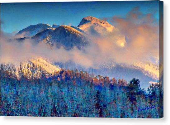 January Evening Truchas Peak Canvas Print