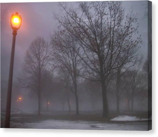 Etherial Canvas Print - January Fog 3 by Anita Burgermeister