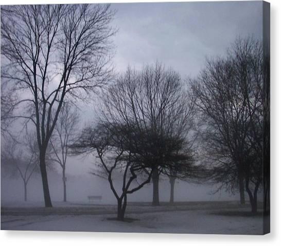 Etherial Canvas Print - January Fog 6 by Anita Burgermeister