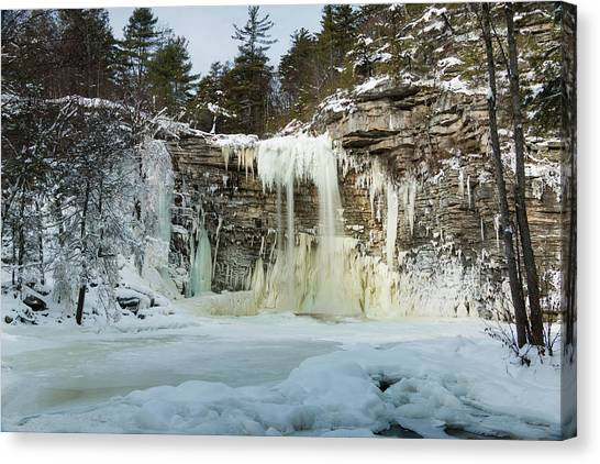 January Morning At Awosting Falls Canvas Print
