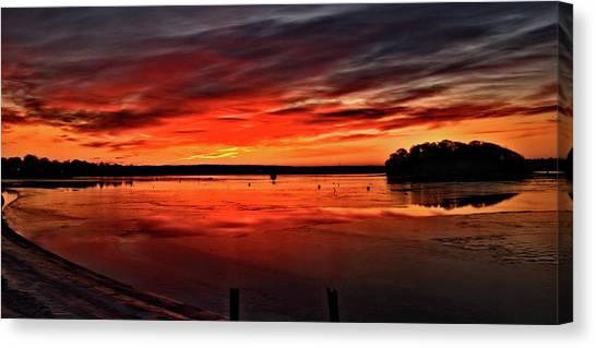 January Sunrise Onset Pier Canvas Print