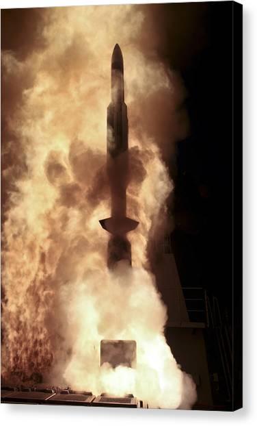 Warheads Canvas Print - Japan Maritime Self Defense Force by Stocktrek Images
