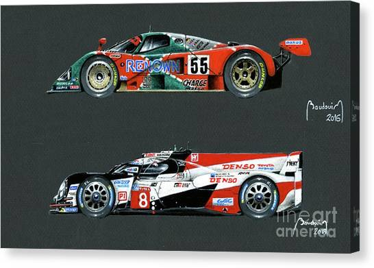 Cobra Canvas Print - Japan Pride. Mazda And Toyota, Le Mans Winners by Alain Baudouin