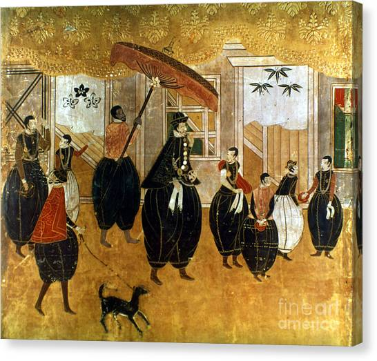 Japanese Umbrella Canvas Print - Japan: St. Francis Xavier by Granger