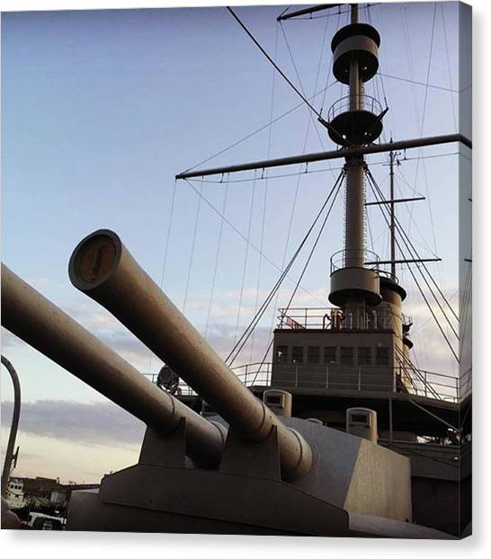 Battleship Canvas Print - #japaneasebattleship #battleship by Ryuichi Freeman