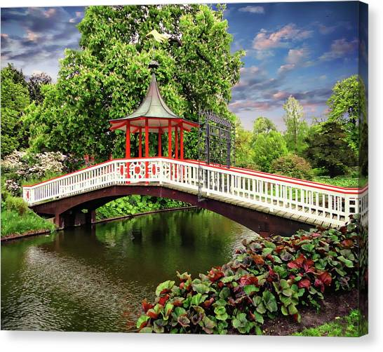 Japanese Bridge Garden Canvas Print
