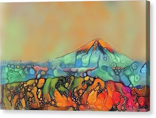 Mount Fuji Canvas Print - Japanese Dreamy Mt. Fuji Modern Interior Art Painting. by ArtMarketJapan