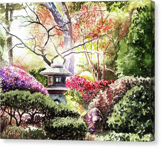 Irina Canvas Print - Japanese Garden In The Spring by Irina Sztukowski