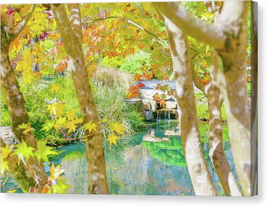 Japanese Garden Pond Canvas Print