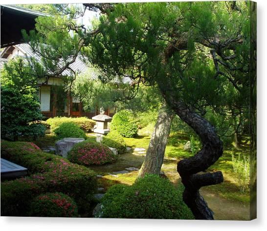 Japanese Garden V Canvas Print by Wendy Uvino