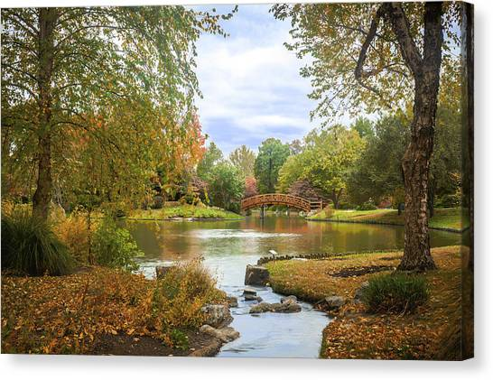 Canvas Print featuring the photograph Japanese Garden View by David Coblitz