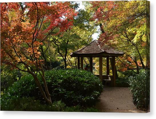 Canvas Print featuring the photograph Japanese Gardens 2577 by Ricardo J Ruiz de Porras