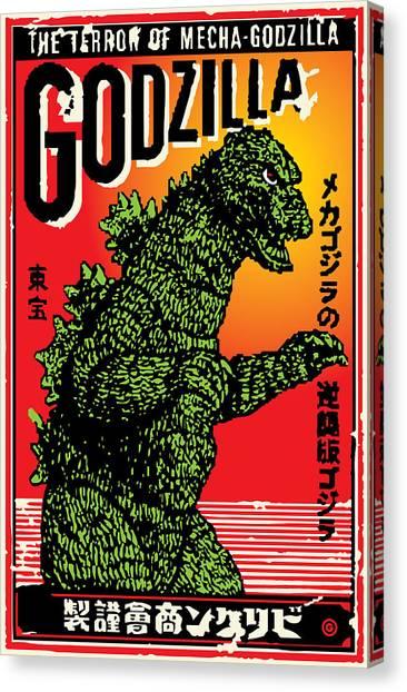 Japanese Godzilla  Canvas Print