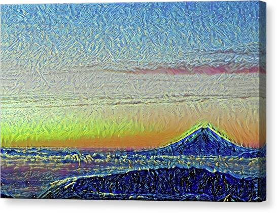 Mount Fuji Canvas Print - Japanese Gradation Mt. Fuji Modern Interior Art by ArtMarketJapan