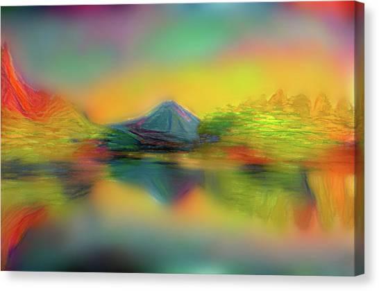 Mount Fuji Canvas Print - Japanese  Inverted Image Of Dreamy Mt. Fuji Modern Interior Art by ArtMarketJapan