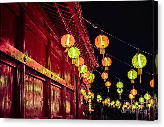 Japanese Lanterns 10 Canvas Print