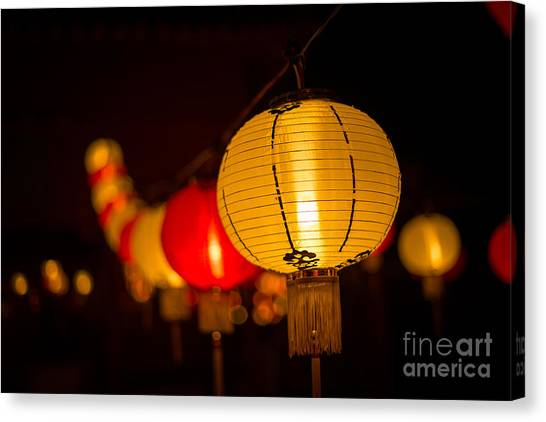 Japanese Lanterns 3 Canvas Print