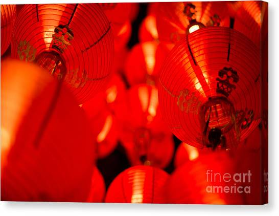 Japanese Lanterns 6 Canvas Print
