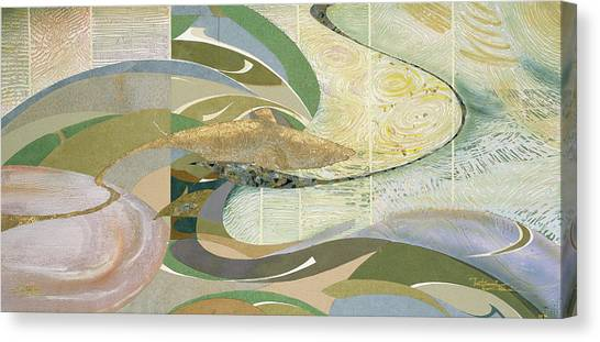 Jaws Canvas Print - Japanese Modern Interior Art #169 by ArtMarketJapan