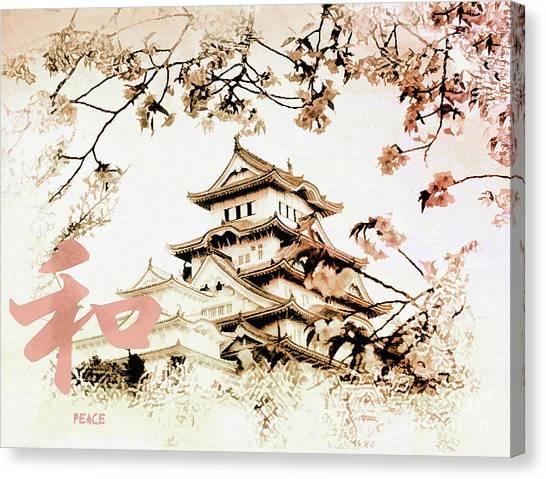 Japanese Peace House Canvas Print