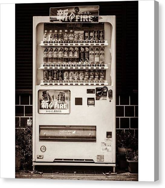 Japanese Canvas Print - #japanese #soda Machine. They Sell by Alex Snay