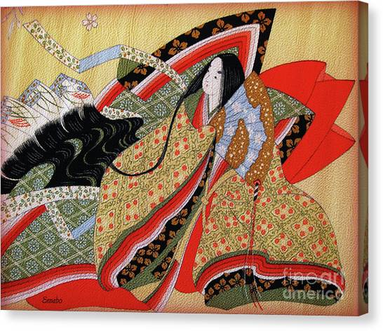 Japanese Textile Art Canvas Print