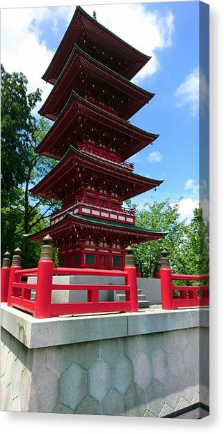 Smallmouth Bass Canvas Print - Five Storied Pagoda by Shunsuke Kanamori