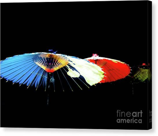Japanese Umbrellas Assorted Colors Canvas Print
