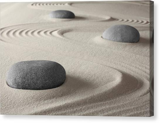 Japanese Zen Garden Canvas Print by Dirk Ercken